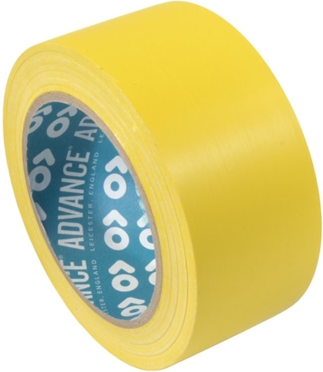 Advance AT8 PVC Markering tape 50mm x 33m Geel