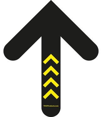 TD47 Products TD47 Social Distancing Vloersticker Pijl 30cm Geel/Zwart