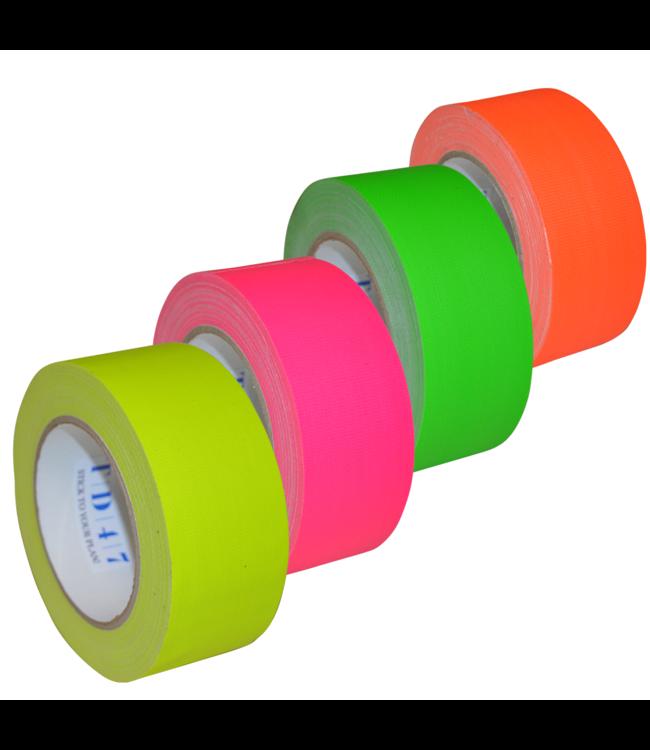 TD47 Gaffa Tape Fluor Deal (4 rollen / 50mm)