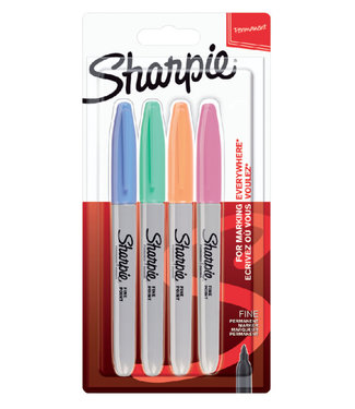 Sharpie Sharpie Fine Point Marker 1mm 4 Stück Pastell-Collor