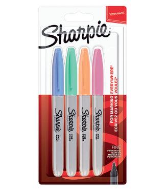 Sharpie Sharpie Fine Point Marker 1mm 4 stuks Pastel-Collor