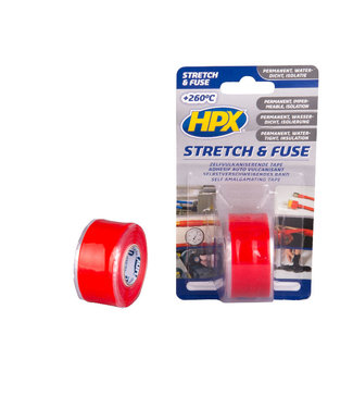 HPX HPX Stretch & Fuse 25mm x 3m Rood