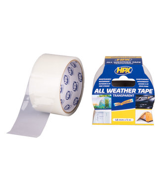 HPX HPX All Weather Tape 48mm x 5m Transparent