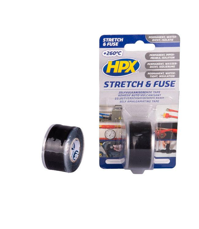 HPX Stretch & Fuse 25mm x 3m Zwart
