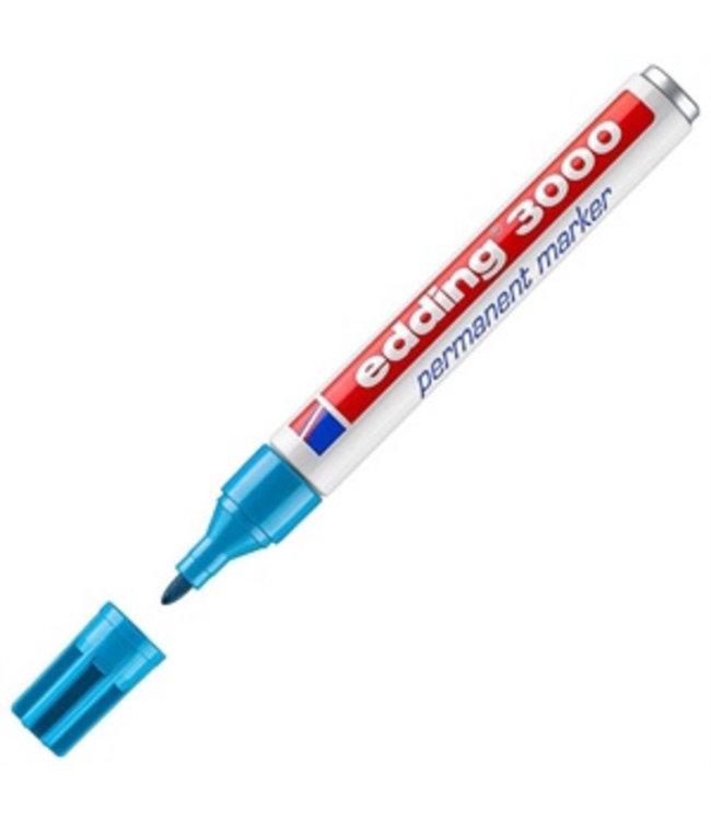 Edding 3000 permanent marker Licht Blauw (1,5 - 3 mm rond)