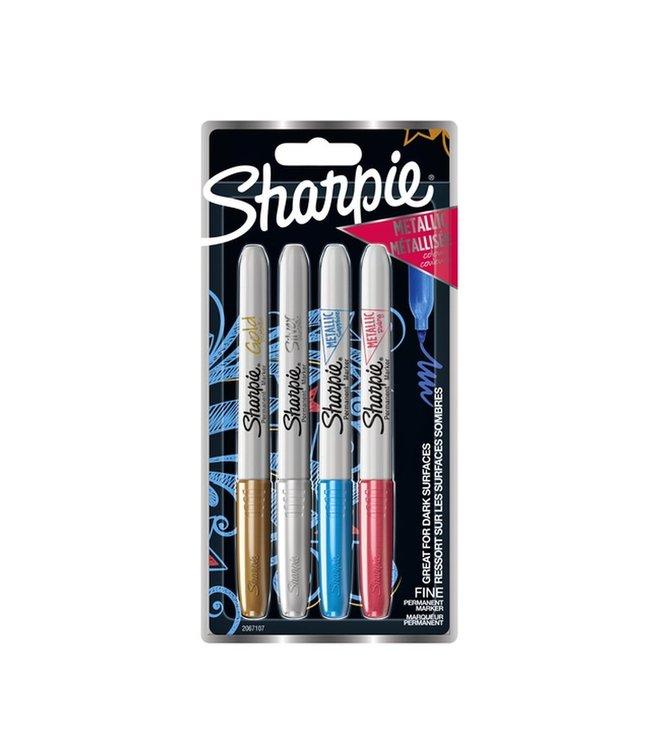 Sharpie Fine Point Marker 1mm 4 Stück Metallic Collor