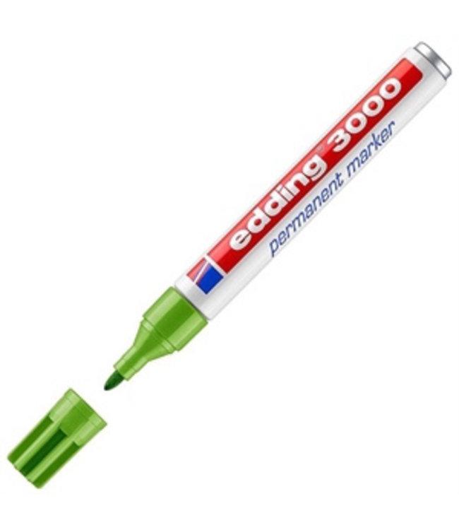 edding Edding 3000 permanent marker Licht Groen (1,5 - 3 mm rond)