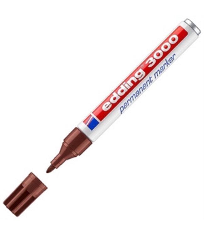 Edding 3000 permanent marker Bruin (1,5 - 3 mm rond)