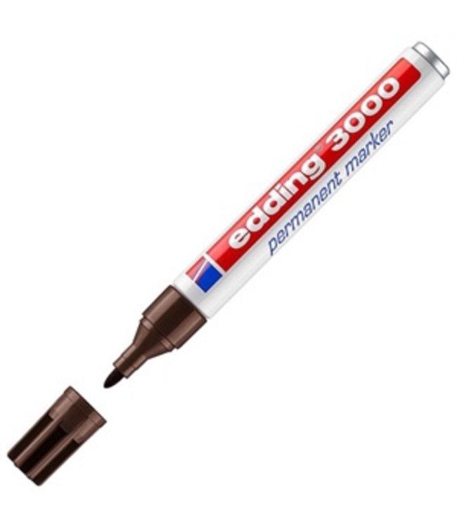 edding Edding 3000 permanent marker Donker Bruin (1,5 - 3 mm rond)