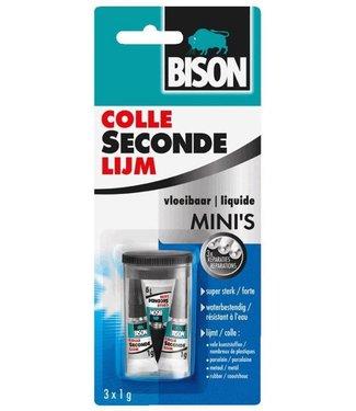 Bison Bison Secondelijm Mini's 3x 1g