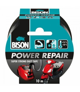 Bison Bison Power Repair Tape 48mm x 10m Zwart