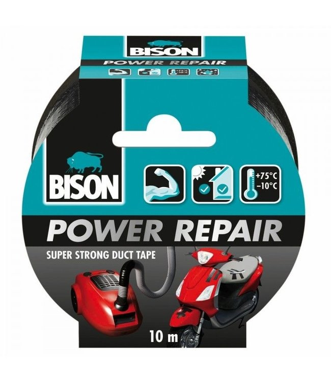 Bison Power Repair Tape 48mm x 10m Zwart