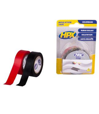 HPX HPX Isolatietape 19mm x 10m zwart + rood