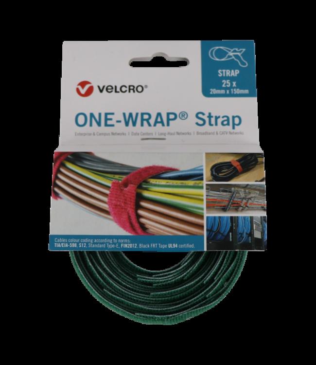 ONE Velcro®-Wrap® Klettkabelbinder 20 mm x 150 mm Grün