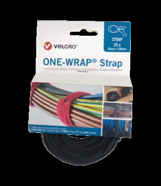 Velcro Velcro® ONE WRAP® Klettkabelbinder 20mm x 200mm Schwarz