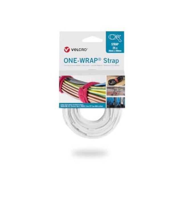 Velcro® ONE-WRAP® klittenband kabelbinder 20mm x 200mm Wit
