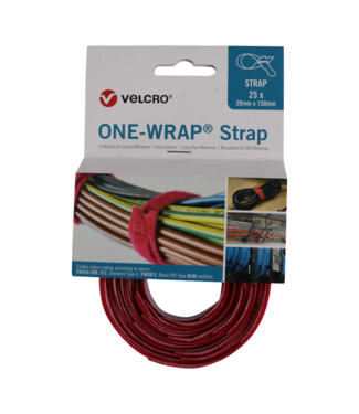 Velcro Velcro® ONE WRAP® Klettkabelbinder 20mm x 330mm Rot
