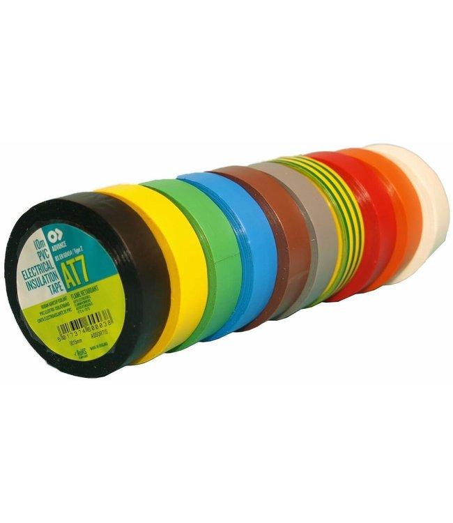 Advance AT7 PVC tape 15mm x 10m Kleuren Mix