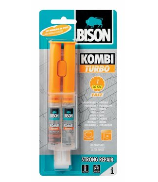 Bison Bison Kombi Turbo Tweecomponenten Epoxylijm 24ml