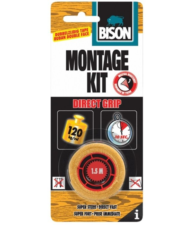 Bison Montagekit Direct Grip Tape 19mm x 1.5m