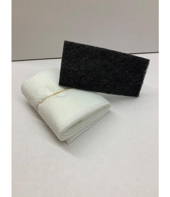Bison-Gummi-Dichtung Textilgewebe als 100mm x 2.5m + Abrasive Fiber