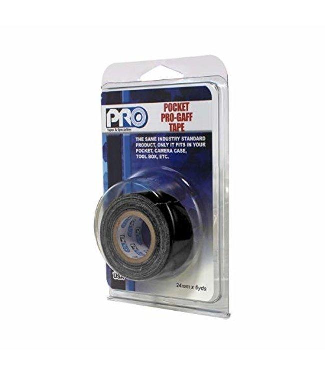 Pro fluor tape mini rol 24mm x 9.2m Zwart