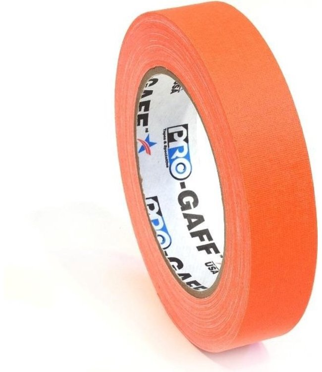 Pro-Gaff neon gaffa tape 24mm x 22,8m Oranje