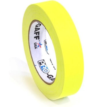 Pro Tapes Pro-Gaff neon gaffa tape 24mm x 22,8m Geel