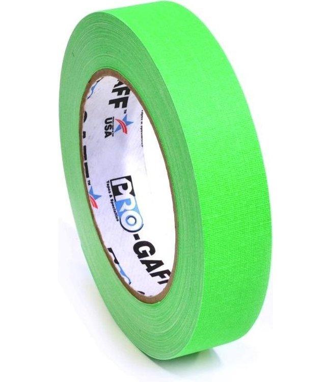 Pro-Gaff neon gaffa tape 24mm x 22,8m Groen