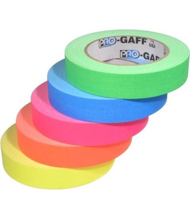 Pro-Gaff Neon Gaffa Tape 24mm x 22,8m Farbe mix