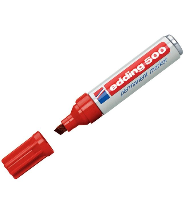 Edding 500 permanent marker Rood (2 - 7 mm schuin)