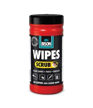 Bison Bison Wipes Scrub Reinigingsdoekjes 40st.