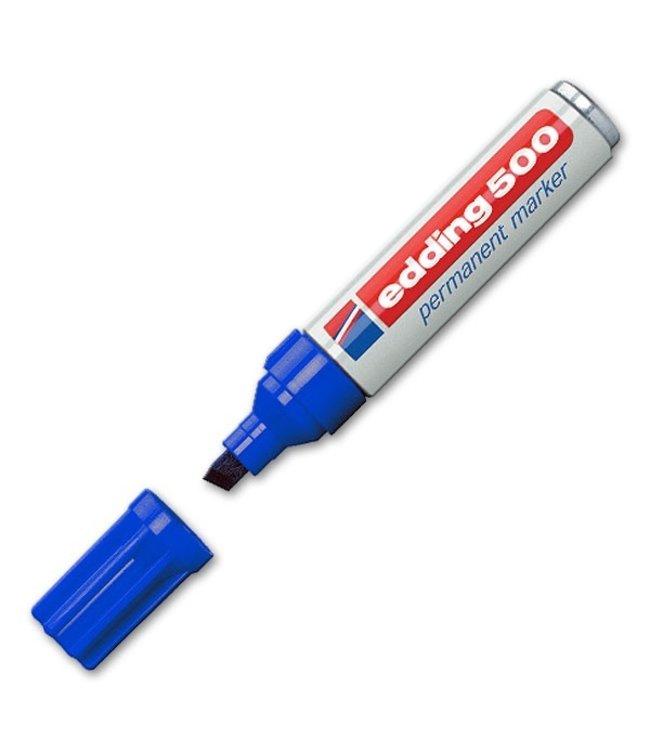 Edding 500 Permanent-Marker Blau (2-7 mm diagonal)