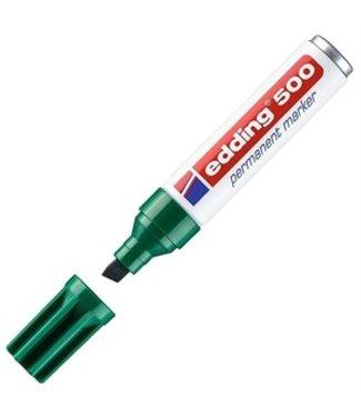 edding Edding 500 permanent marker Groen (2 - 7 mm schuin)