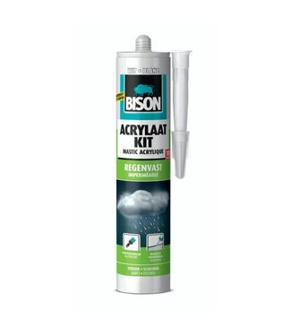 Bison Bison Acrylaatkit Regenvast 300ml Wit