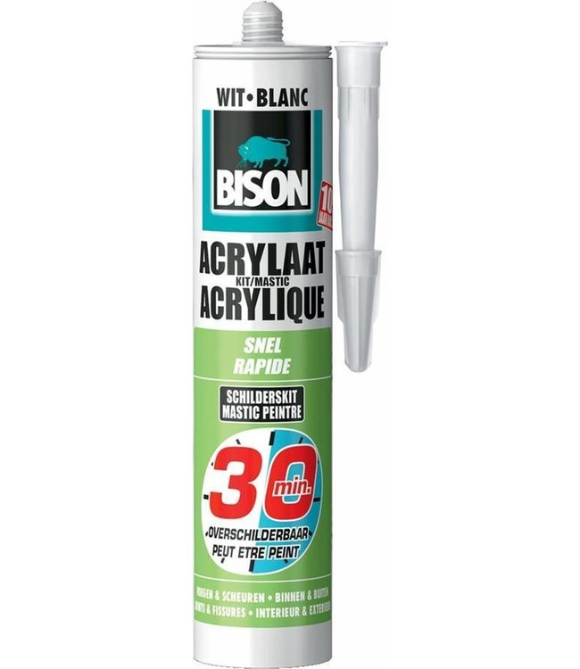 Bison Acrylaatkit Snel 30min 300ml Wit