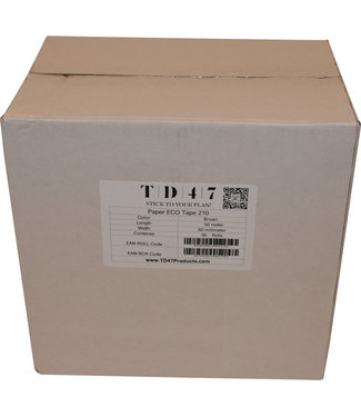 TD47 Products TD47 Tape Papier 50mm x 50m Brown (36 Rollen)