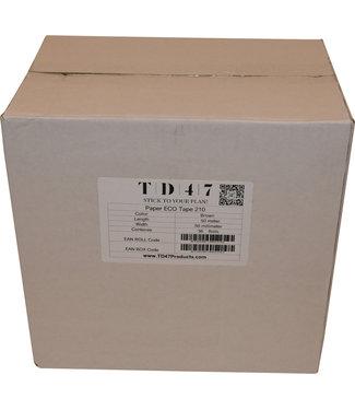 TD47 Products TD47 Verpakkingstape Papier 50mm x 50m Bruin (36 rollen)