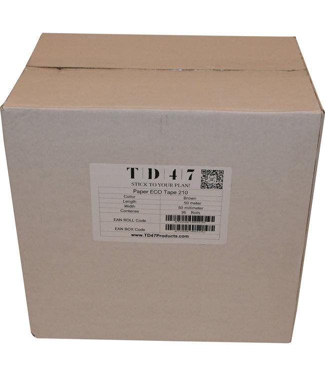 TD47 Verpakkingstape Papier 50mm x 50m Bruin (36 rollen)