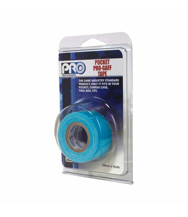 Pro fluor tape mini rol 24mm x 9.2m Neon Blauw