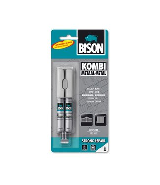 Bison Bison Kombi Metal Top-Composants Epoxy Colle 24ml