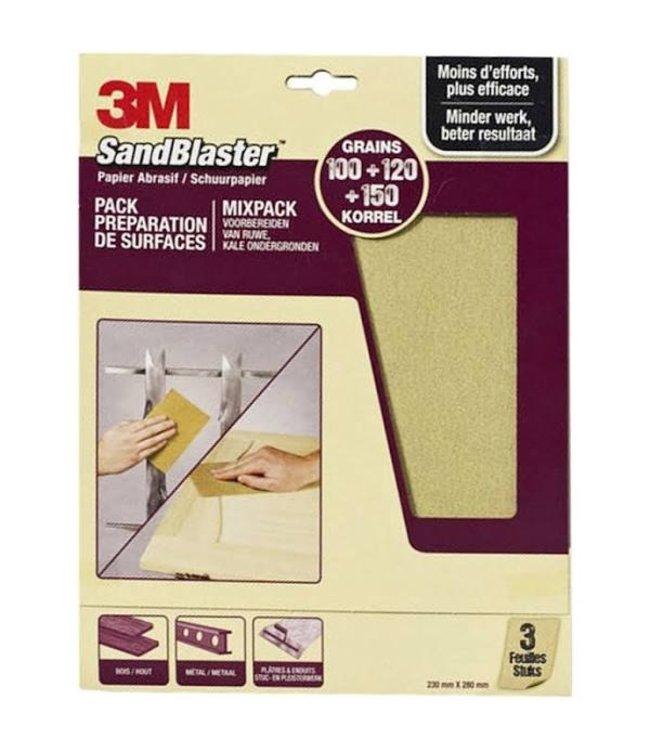 3M Sandblaster Schuurpapier Assorti Paars