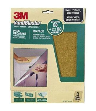 3M 3M Sandblaster Papier de verre assorti vert