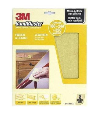 3M Sandblaster 3M Papier de verre assorti d'or