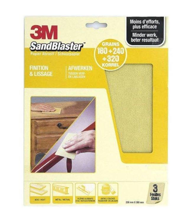 3M Sandblaster Schuurpapier Assorti Goud