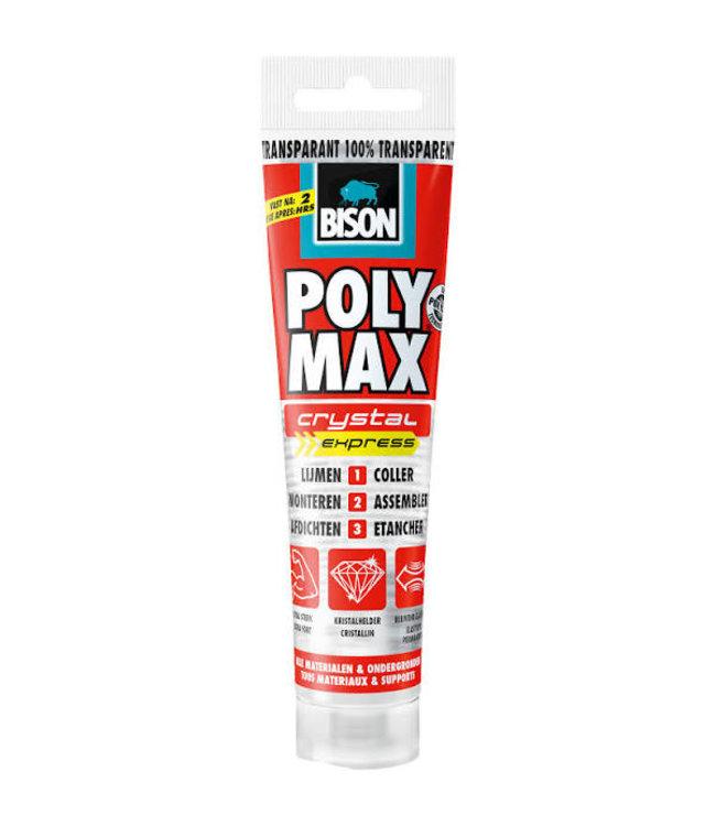Bison Polymax Crystal Express Transparant 115g
