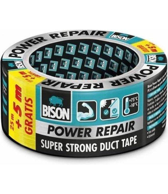 Bison Power Repair Tape 48mm x 25m Grijs (+ 5m Gratis)
