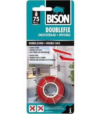 Bison Bison Doublefix dubbelzijdige tape 19mm x 1,5m Onzichtbaar