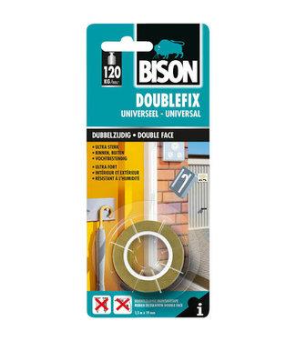 Bison Ruban double face double face de Bison 19mm x 1,5 m universel