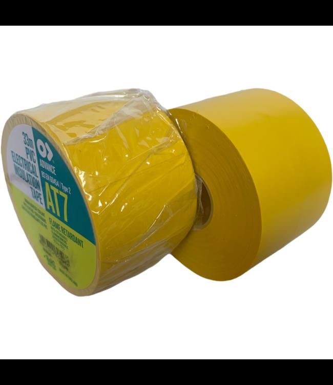 Advance AT7 PVC tape 50mm x 33m Geel